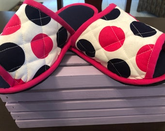 House slippers Indoor Shoes Spashoes chancla polka dot shoe