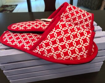 House slippers Indoor Shoes Spashoes chancla red medallion