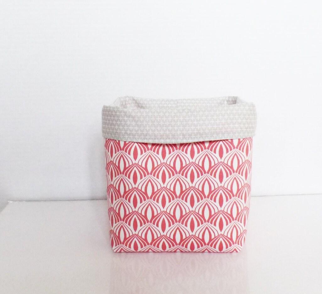 panier de rangement cache pot 15 x 14 cm en tissus motifs etsy. Black Bedroom Furniture Sets. Home Design Ideas