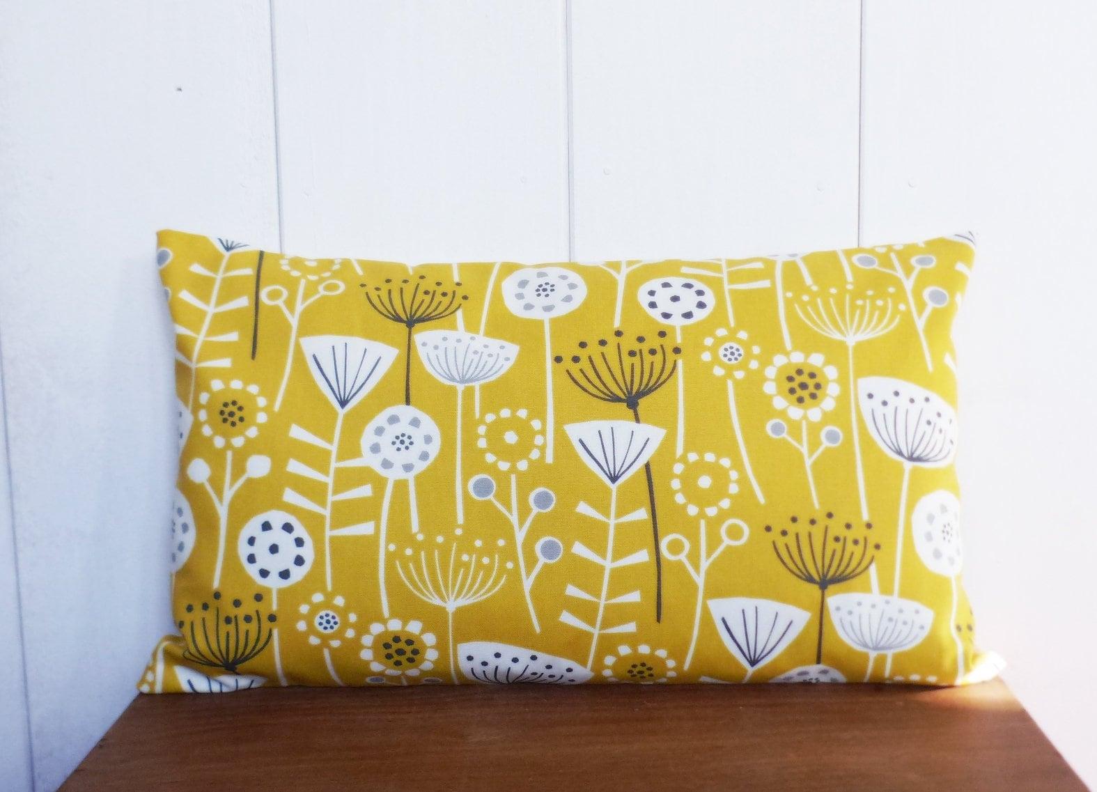 Cushion Cover 50 X 30 Cm Fabric Flowers Scandinavian Pattern