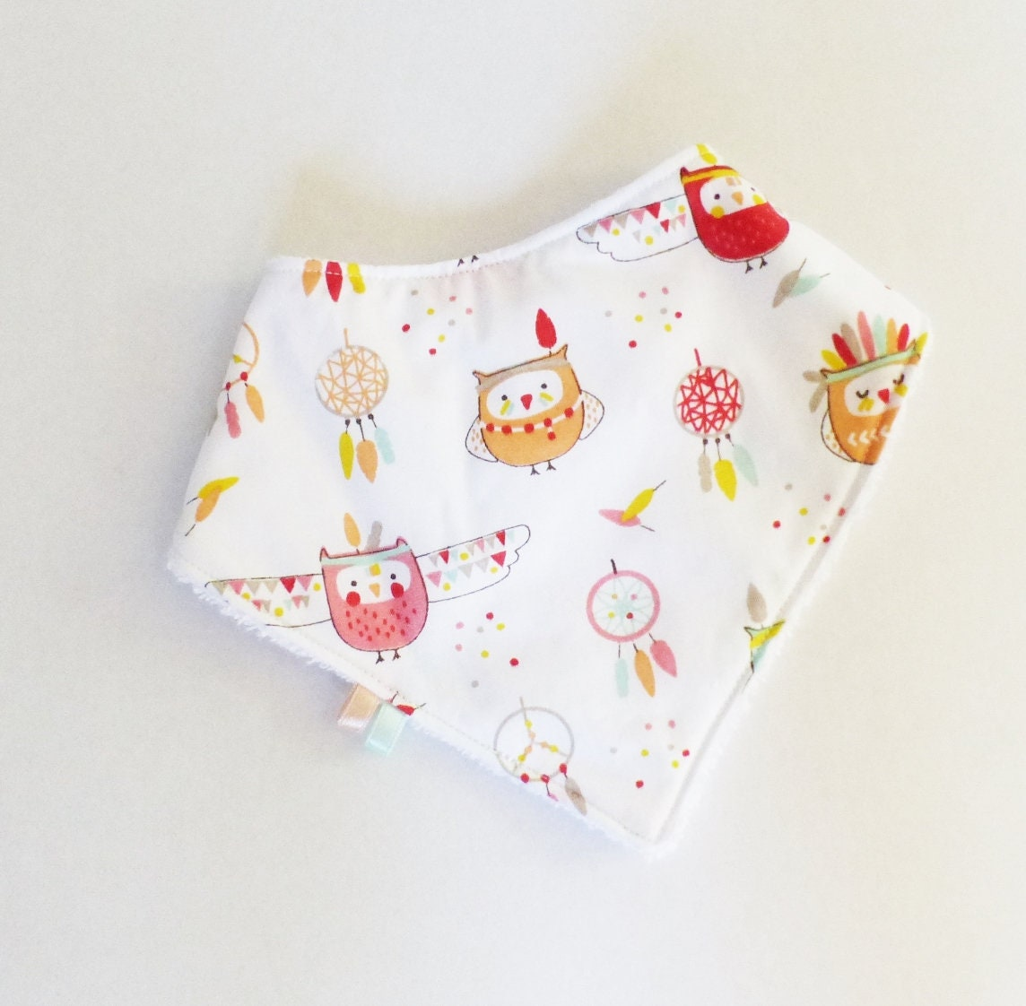 Cadeau Originale Baby Shower baby girl 0-12 months bib bandana indian owl cloth / sponge