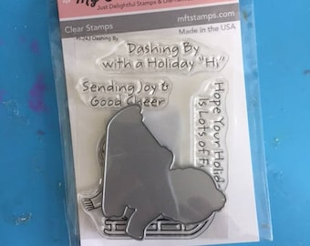 My favorite things stamps/PURE INNOCENCE Dashing By -- stamps & dies