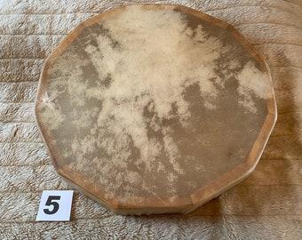 "15"" Buffalo Rawhide Drum, Shaman, Pagan, Native American Inspired Drum (5)"