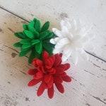 Christmas Felt Chrysanthemums, Christmas Flower Mix, Die Cut Felt Chrysanthemums, roll up felt flowers, floral craft, Wreath Craft
