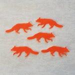 Felt Foxes, Fox die cuts, felt fox die cuts, red foxes, woodland animals, animal shapes, embellishments, felt crafts, felt die cuts,