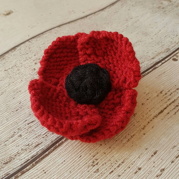 Red Poppy Brooch Red Flower Pin Remembrance Day Veterans Day