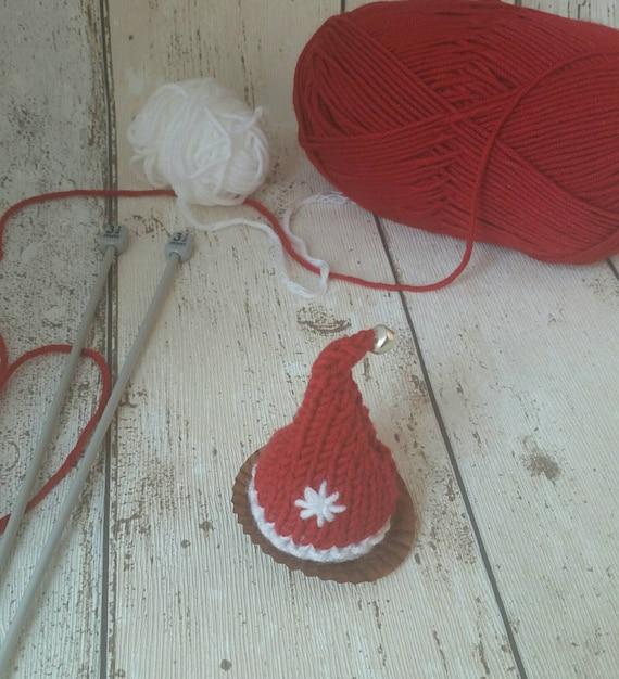 57b75ebf7 Santa Hat Christmas knitting pattern ,PDF, favour, chocolate cover ...