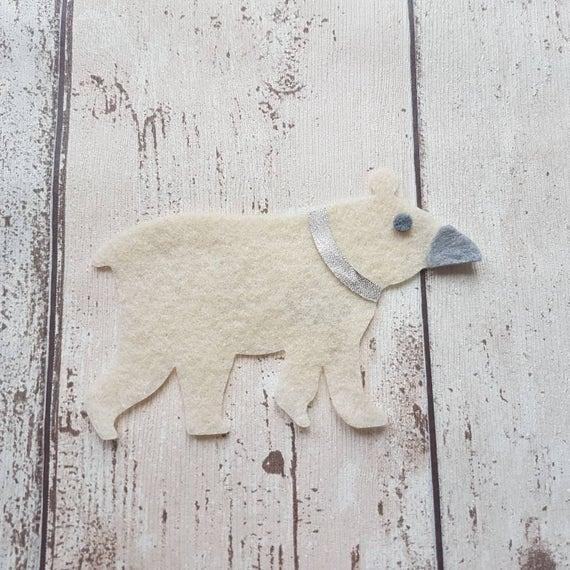 Feutrine ours polaires, Die Cut ours, décoration de Noël, fabrication de cartes, Noël, ours décoration, bricolage ours polaire, artisanat de Noël,