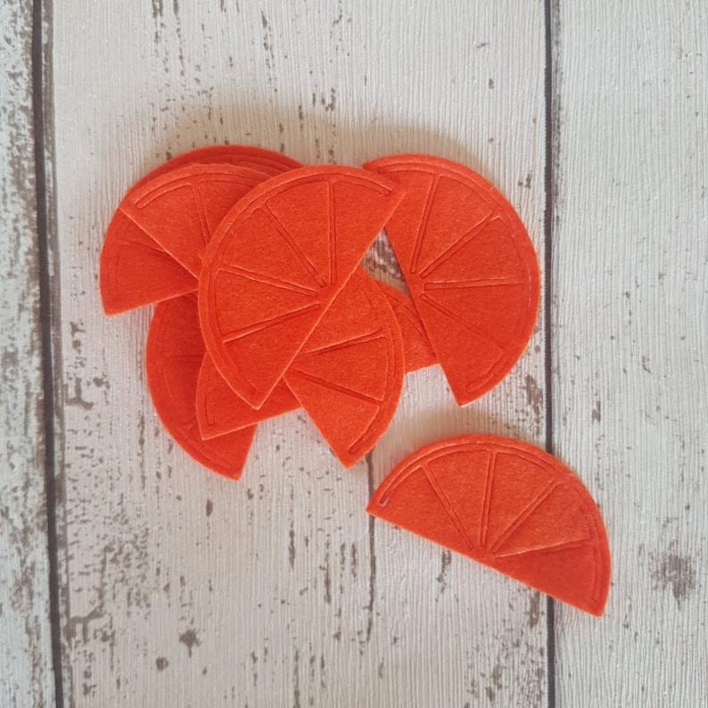 Felt Orange Slice Felt Die Cut Oranges Wreath craft image 0