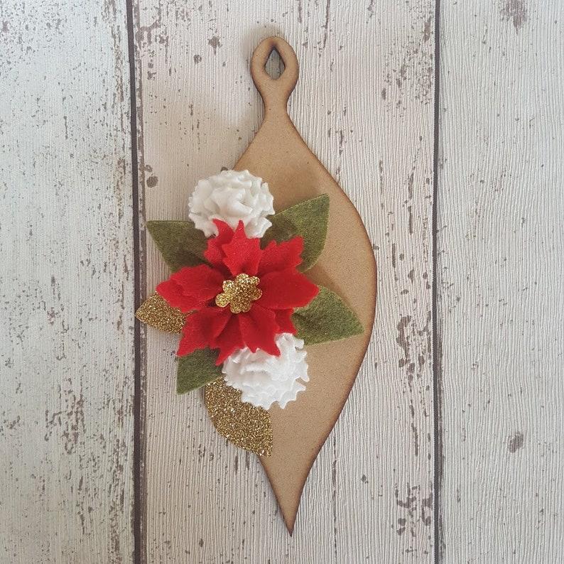 Felt Flower Bauble Christmas Bauble Ornament Make Your Own image 0