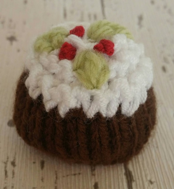 3 Chocolate Orange cover knitting patterns   Xmas Pudding  Pork Pie  Xmas Cake