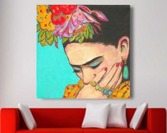 Mexican Art, Print, 30% Off, Canvas Wrap, Mexican folk art, Day of The Dead, Poster,Print, Large