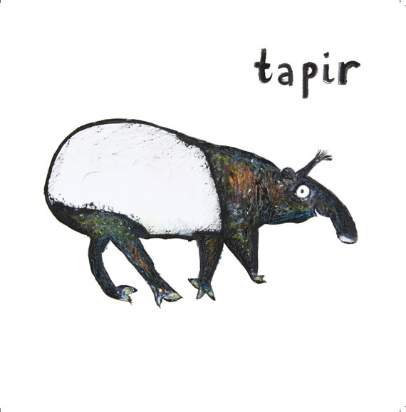 Tapir greeting card