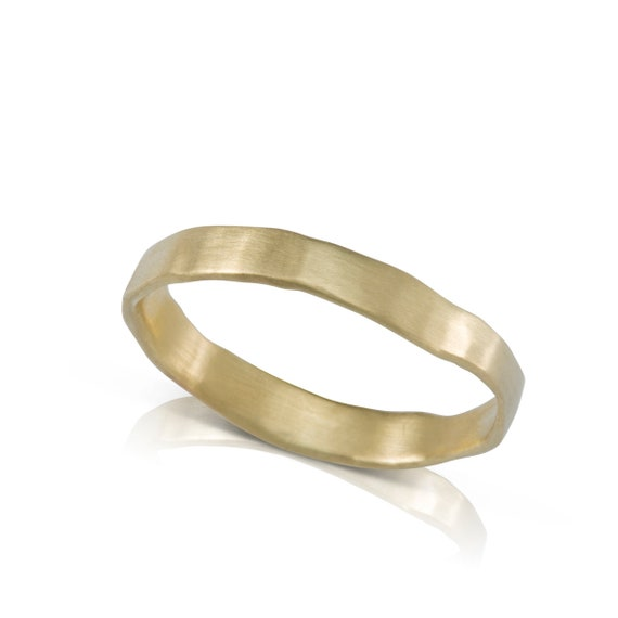 Unique Mens Wedding Band Gold Wedding Rings Hand Made Etsy