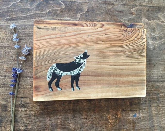 Mandala Wolf - Reclaimed Wood Rustic Home Decor Wall Art