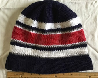 18fb38d05158a New England Patriots Inspired Knitted Hat Cap Beanies Adults Man Woman Red  Blue White Gray 2