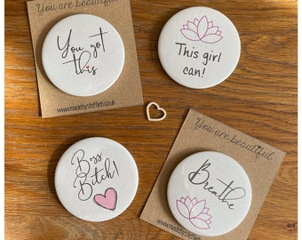 You got this Compact Mirrors, Boss bitch, Accessories,  Make up pampering , Bridesmaid gift, Handheld mirror, Boho Mirror, Party favours