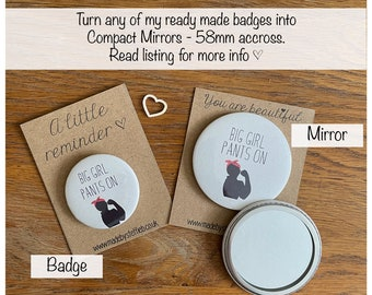 Personalised Compact Mirrors, handbag Accessories, Make up self care pampering ,Bridesmaid gift, Handheld mirror, Boho Mirror, Party favours