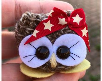 Crochet birthday gift, Cute Animal Owl, Aelia the Cutie - Bird ornament decor, Owl ornament decor