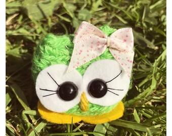 Amigurumi Owl Crochet  - Coralene the Cutie - comes in a box crochet