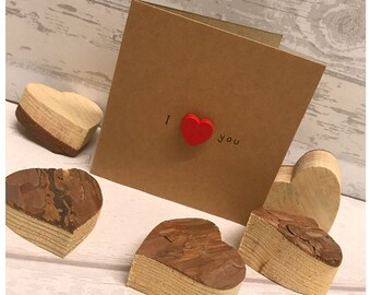 Valentines love cards, greeting cards, wooden heart, recycled handmade card, heart cards, I love you, Be mine, be my valentines