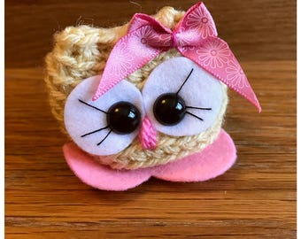 Infertility IVF, Personalised gift owl, Antonia the Cutie Mummy to be, Vintage crochet gift, Gift for girls, Birthday, Home decor, Keepsakes