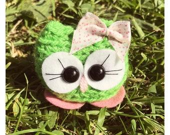 Owl Crochet amigurumi - Miki the Cutie - comes in a box crochet