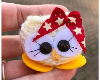 Handmade Birthday gift - Claudia the Cutie -Crochet owl - Star bows - amigurumi cute owl -  Keepsake - Mothers day - Home decor
