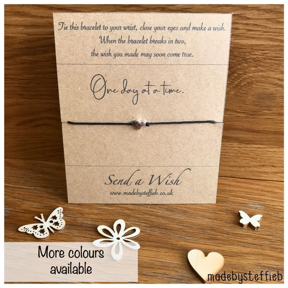 Friendly Box Breaks >> Mental Health Gift Care Box Gift Self Care Wish Bracelet One Day At A Time Patience Eco Friendly Gift Be Kind Thinking Of You