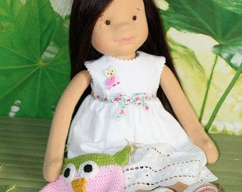 """Waldorf doll 17"""" inches, """"new  Patricia1""""   - A gift for birthday-"""