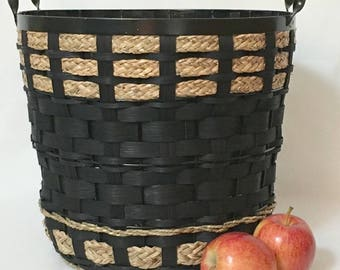 """Woven Waste Basket on a Metal Frame - """"Willa"""""""