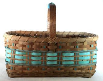 """Hand Woven Farmer's Market or Vegetable Garden Basket - """"Salma"""""""