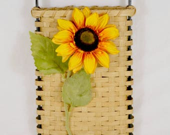 Sunflower Hand Woven Door or Wall Hanging Basket