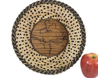 "Basket Weaving PATTERN or TUTORIAL - """"TEMPEST"" Round Table Basket"