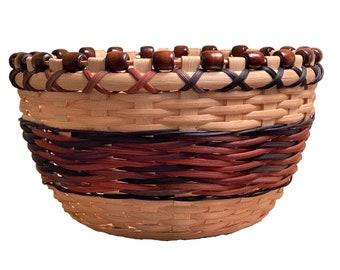 "BASKET PATTERN  - ""ELSA"" - Beaded Rim Table Basket"