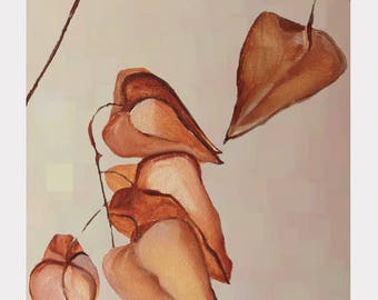 Print:  Dried Lanterns on Mist