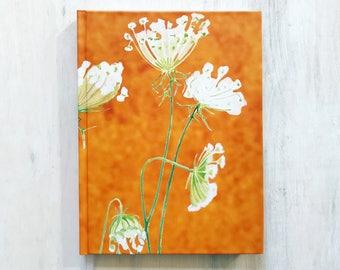 Journal:  Queen Anne's Lace on Rusty Orange
