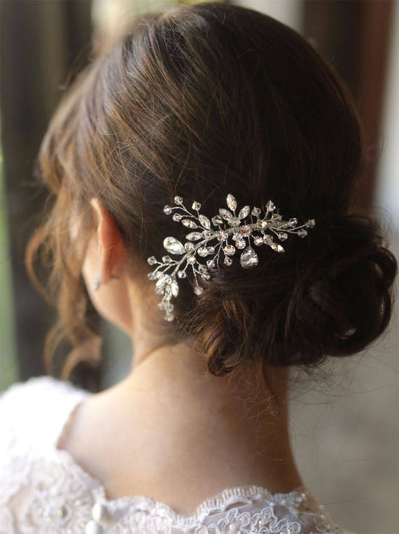 Peigne mariée cristal Swarovski doré, cristal or mariage peigne, peigne, peigne à cheveux mariage, peigne à cheveux Swarovski, or - 7090