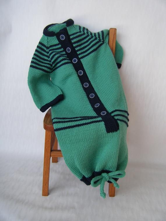 Knitting Pattern Pdf Baby Bunting Sleep Sack Drawstring Etsy