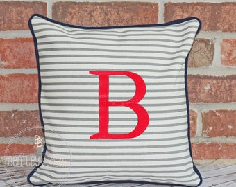 Canvas Monogram Pillow - Personalized Pillow - Monogram Pillowcase Cover- Monogram Pillow Sham - Pillowcase - Decorative Pillow