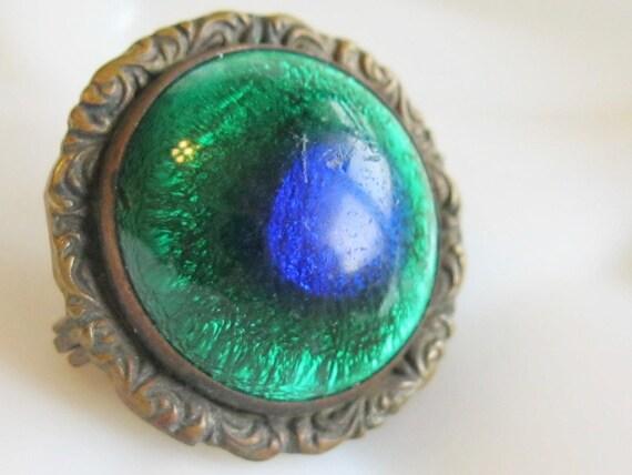 Antique 1800's early Fishel Nessler Peacock Eye Gr