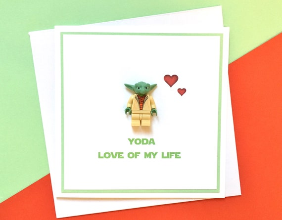 Anniversary Valentine Birthday Card Star Wars Yoda Etsy