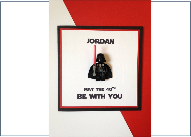 Personalised birthday card star wars darth vader