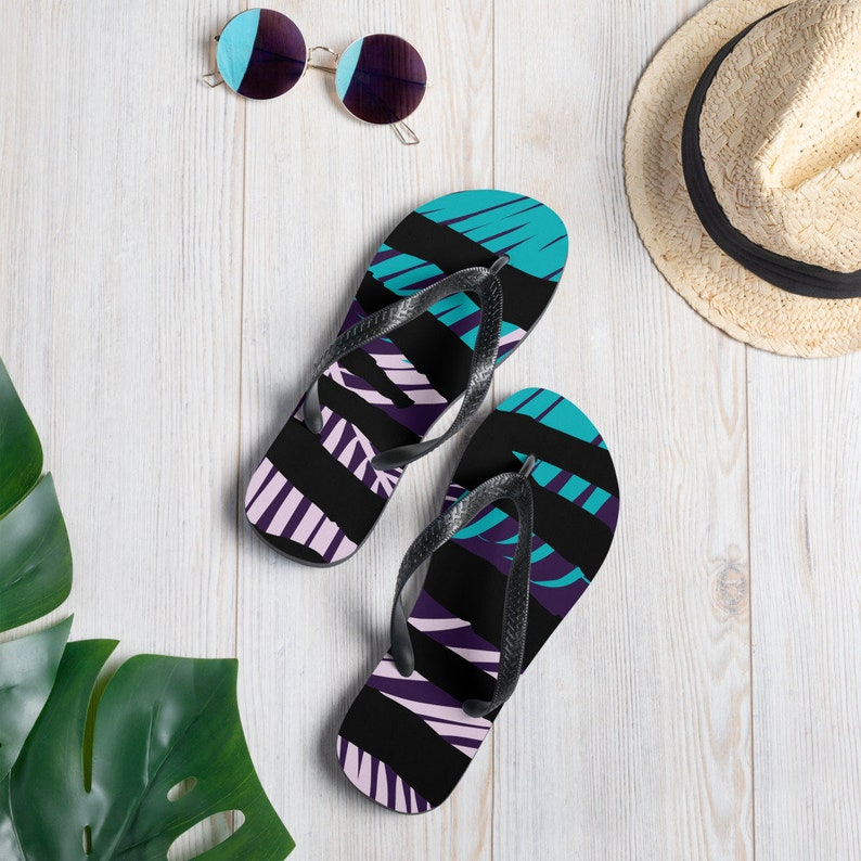 Sandals Flip-Flops Vacation Flip Flops Beach Flip Flops All Over Print Flip Flops Summer Flip Flops Custom Print Flip Flops