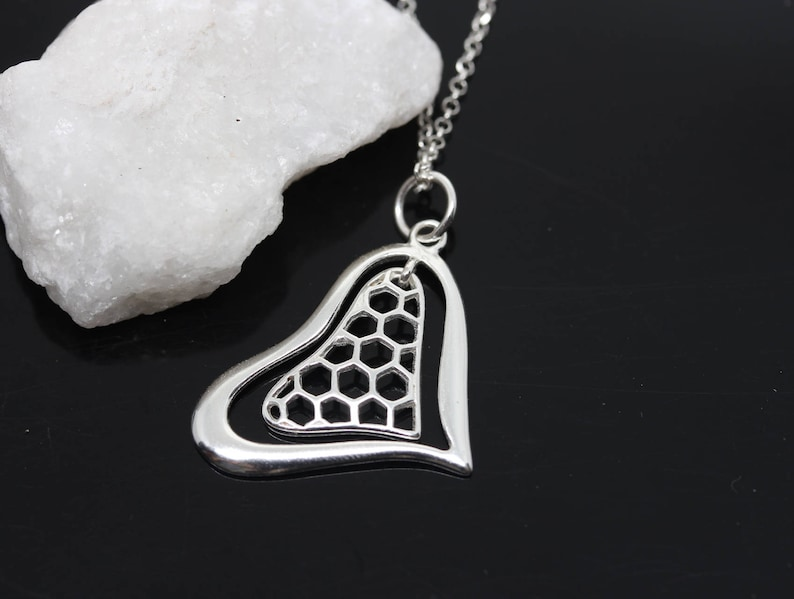 Heart pendant on a sterling silver chain Large heart Not personalized. 925 Sterling Silver Heart Necklace