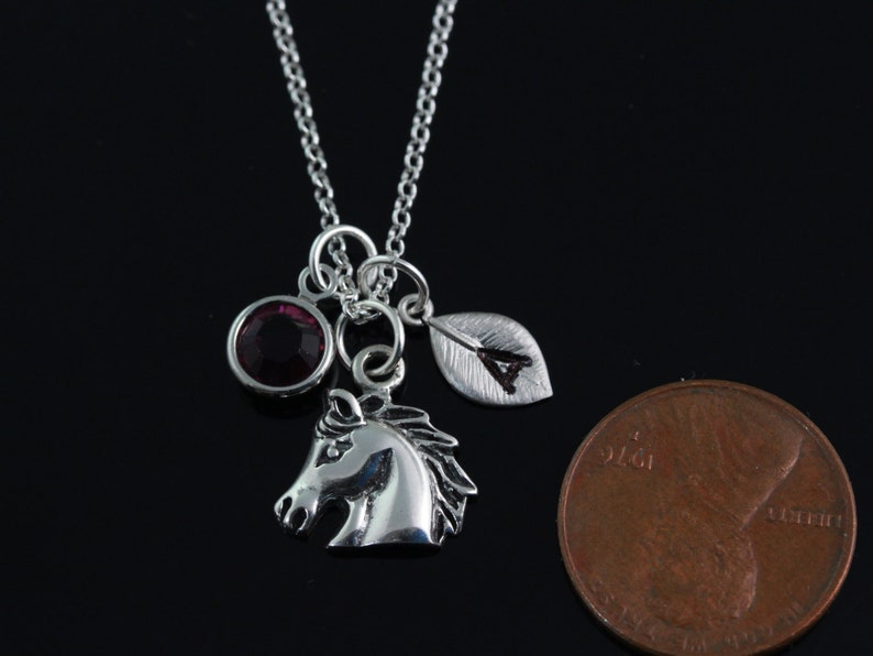 silver horseC RX 126 Personalized silver sterling horse head necklace sterling silver horse pendant necklace Horse head Necklace