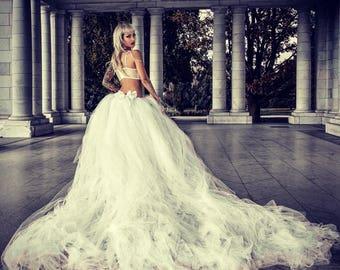 4f338d450 Wedding Skirt Wedding Tutu Bridal Skirt Wedding Dress Bridal Tutu Ivory  Bridal Tulle Skirt Tutu Skirt Bridal Gown Wedding