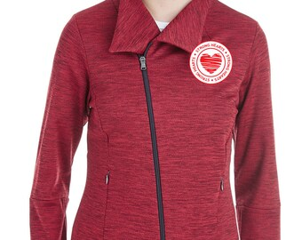 Strong Hearts Melange Fleece Jacket