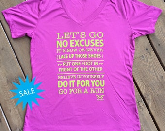 SALE Let's Go, Go For a Run Performance T-shirt