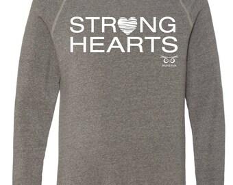 Unisex Strong Hearts Crewneck Sweatshirt